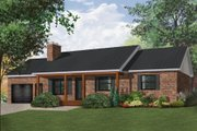 Ranch Style House Plan - 3 Beds 1 Baths 1204 Sq/Ft Plan #23-2272 Exterior - Front Elevation