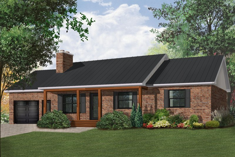 Ranch Exterior - Front Elevation Plan #23-2272 - Houseplans.com