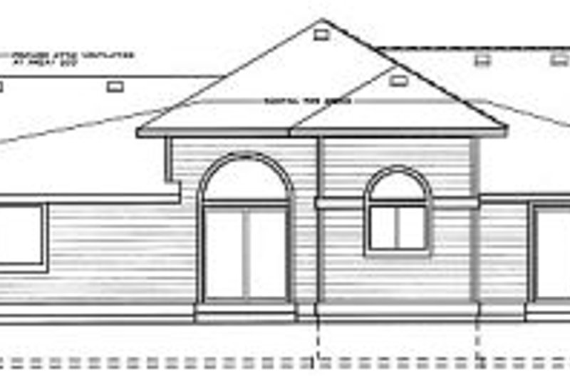 Traditional Exterior - Rear Elevation Plan #92-108 - Houseplans.com