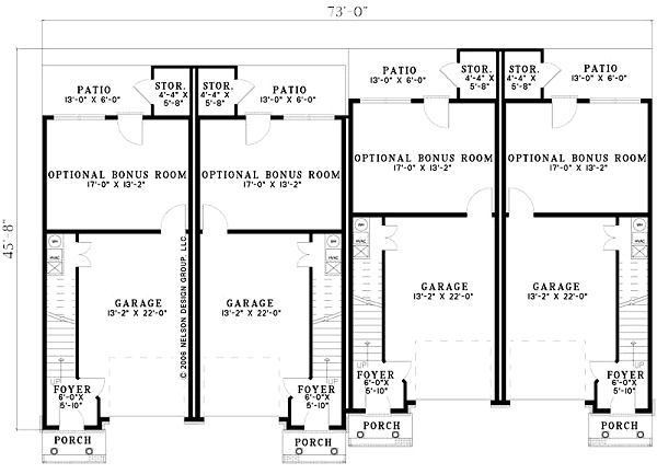 European Floor Plan - Lower Floor Plan #17-1172