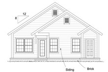 House Plan Design - Craftsman Exterior - Rear Elevation Plan #513-2094