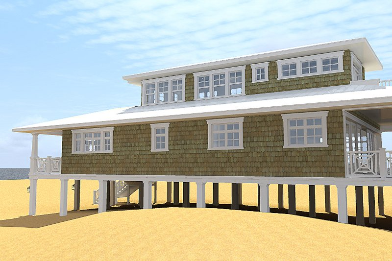 Beach Exterior - Other Elevation Plan #64-205 - Houseplans.com