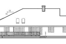 Country Exterior - Rear Elevation Plan #60-644