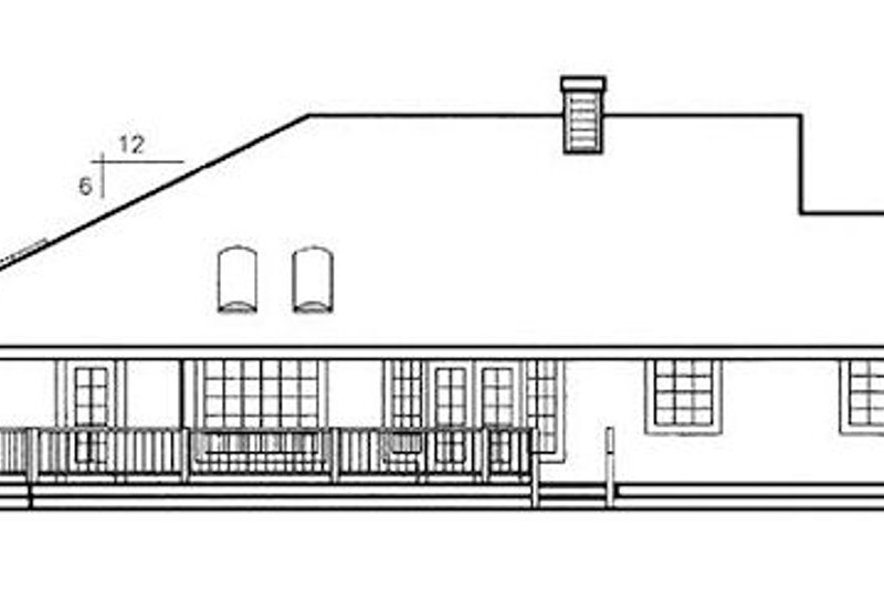 Country Exterior - Rear Elevation Plan #60-644 - Houseplans.com