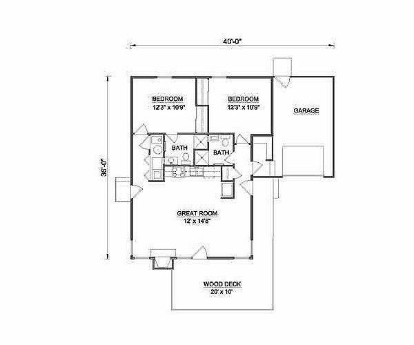 Floor Plan - Main Floor Plan Plan #116-219
