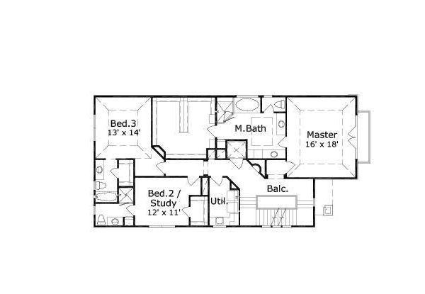European Floor Plan - Upper Floor Plan #411-650