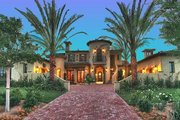 Mediterranean Style House Plan - 4 Beds 4.5 Baths 6755 Sq/Ft Plan #135-165 Exterior - Other Elevation