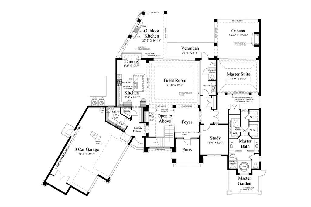 Contemporary Floor Plan Main 930 20