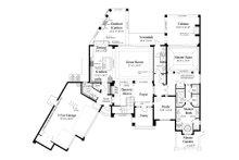 Contemporary Floor Plan - Main Floor Plan Plan #930-20