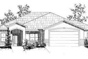 Adobe / Southwestern Style House Plan - 3 Beds 2 Baths 1843 Sq/Ft Plan #24-213 Exterior - Front Elevation