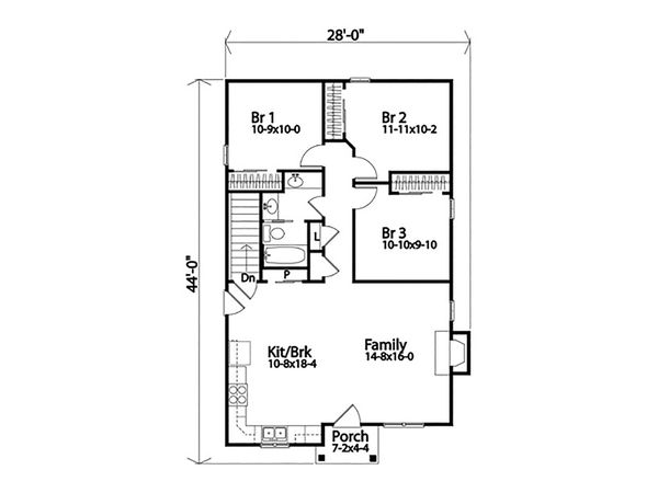 Ranch Floor Plan - Main Floor Plan #22-613