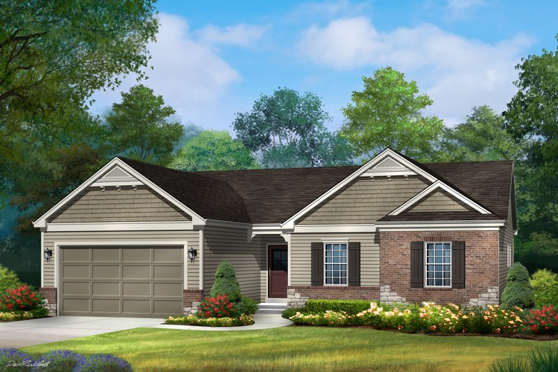 Ranch Exterior - Front Elevation Plan #22-580
