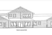 Craftsman Style House Plan - 5 Beds 4.5 Baths 4459 Sq/Ft Plan #117-879 Exterior - Rear Elevation