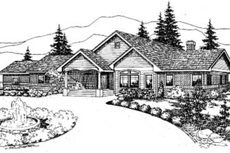 Home Plan - Exterior - Front Elevation Plan #60-593
