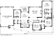 Traditional Style House Plan - 3 Beds 2.5 Baths 2164 Sq/Ft Plan #70-1135 Floor Plan - Main Floor