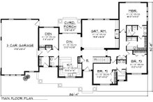 Traditional Floor Plan - Main Floor Plan Plan #70-1135