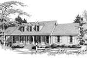 Colonial Style House Plan - 3 Beds 2 Baths 2344 Sq/Ft Plan #10-112 Exterior - Front Elevation