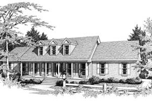 Colonial Exterior - Front Elevation Plan #10-112