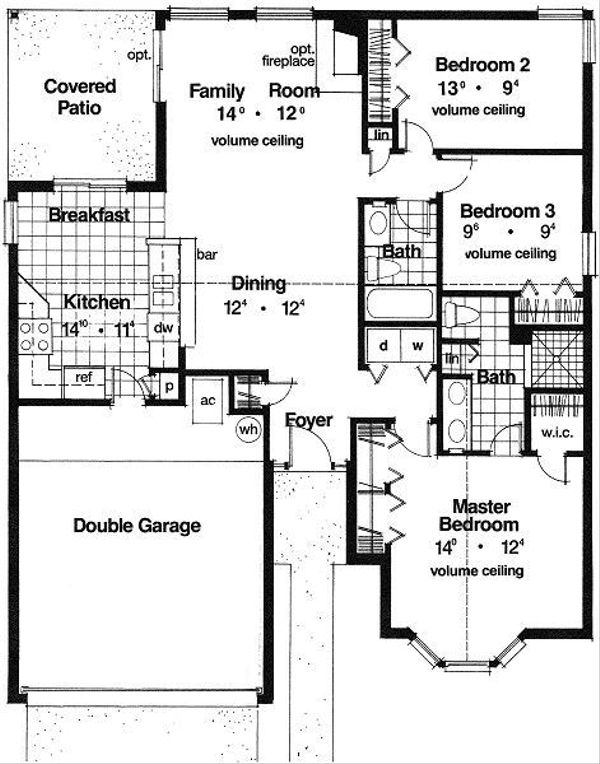 European Floor Plan - Main Floor Plan Plan #417-110