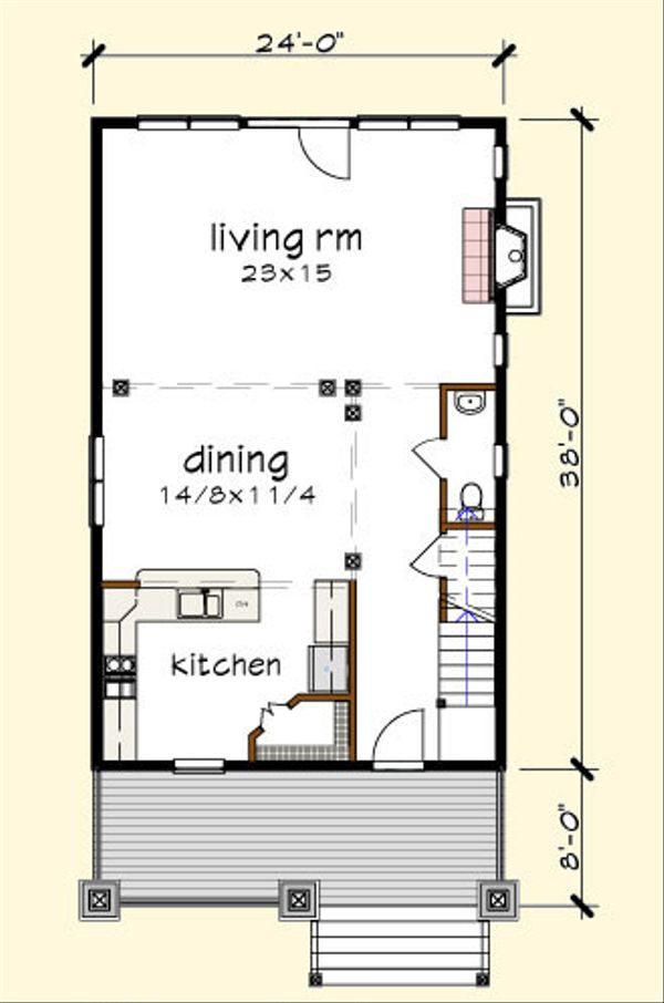 Craftsman Floor Plan - Main Floor Plan Plan #79-273