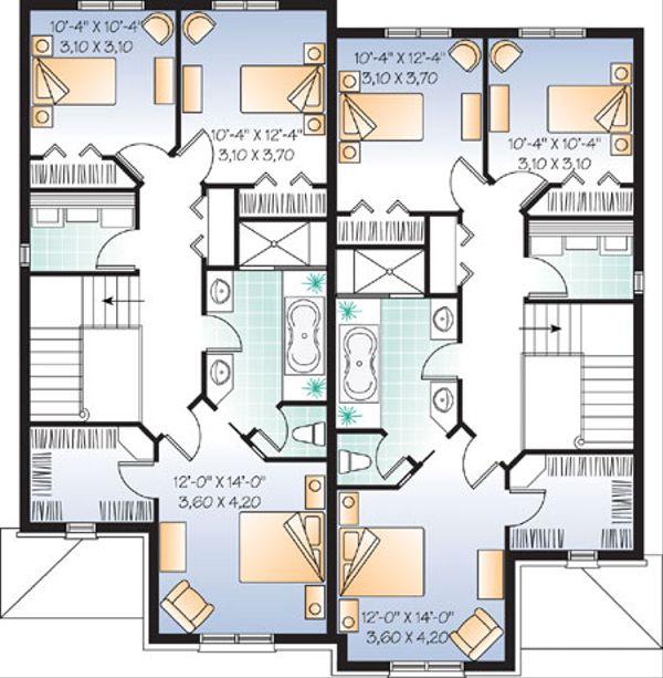 European Floor Plan - Upper Floor Plan Plan #23-2171