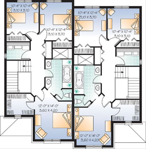 European Floor Plan - Upper Floor Plan Plan #23-2171