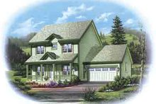 Dream House Plan - Country Exterior - Front Elevation Plan #48-201