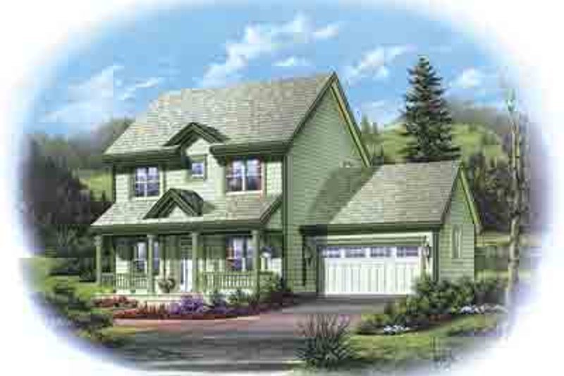 Country Exterior - Front Elevation Plan #48-201