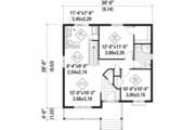 Country Style House Plan - 2 Beds 1 Baths 806 Sq/Ft Plan #25-4451 Floor Plan - Main Floor