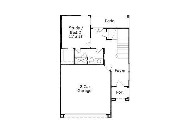 European Floor Plan - Main Floor Plan Plan #411-681