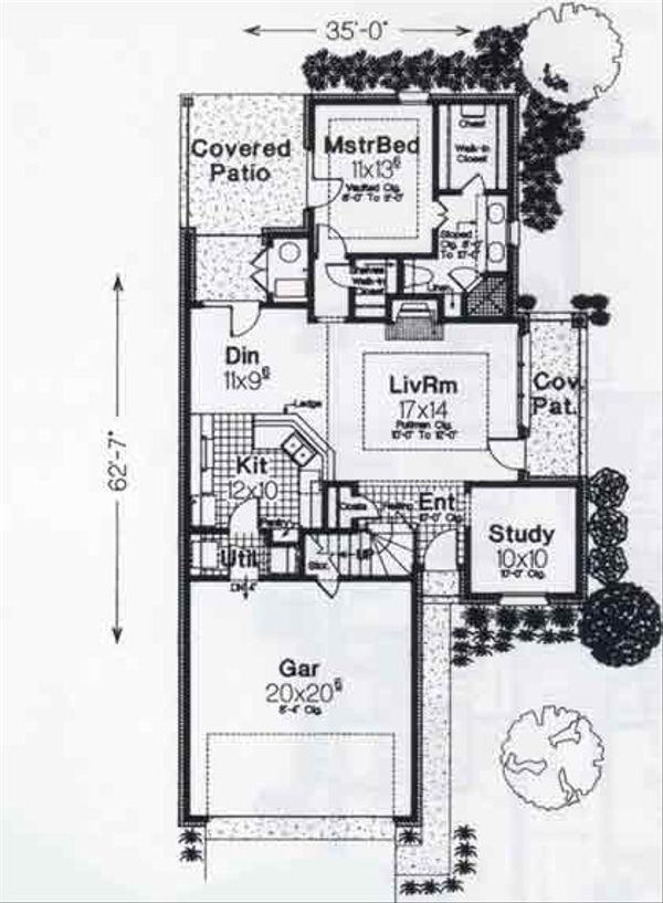 Colonial Floor Plan - Main Floor Plan #310-759
