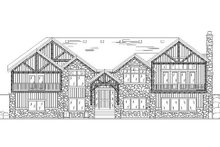Home Plan - Traditional Exterior - Rear Elevation Plan #5-264