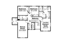 Craftsman Floor Plan - Upper Floor Plan Plan #124-828