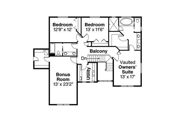 Craftsman Floor Plan - Upper Floor Plan #124-828