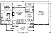 Country Style House Plan - 3 Beds 2.5 Baths 2023 Sq/Ft Plan #20-367 Floor Plan - Main Floor Plan