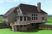 European Style House Plan - 3 Beds 2.5 Baths 1890 Sq/Ft Plan #75-192 Exterior - Rear Elevation