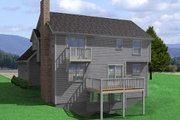 Traditional Style House Plan - 3 Beds 2.5 Baths 1742 Sq/Ft Plan #75-138 Exterior - Rear Elevation