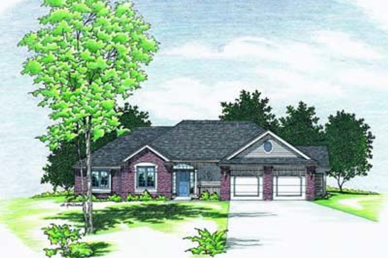 Traditional Exterior - Front Elevation Plan #20-688 - Houseplans.com