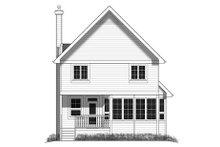 Cottage Exterior - Rear Elevation Plan #18-289