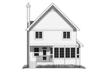 Cottage Exterior - Rear Elevation Plan #18-289
