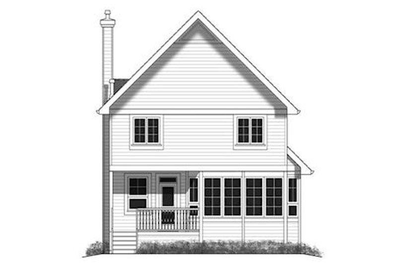 Cottage Exterior - Rear Elevation Plan #18-289 - Houseplans.com