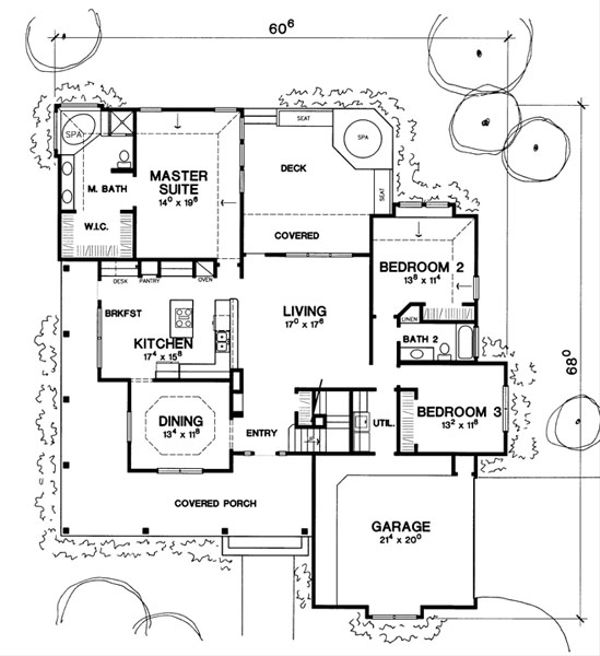 Victorian Style House Plan - 3 Beds 2 Baths 2614 Sq/Ft Plan #472-13 Floor Plan - Main Floor Plan