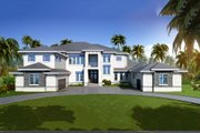 Contemporary Style House Plan - 6 Beds 8 Baths 9301 Sq/Ft Plan #548-27 Exterior - Front Elevation