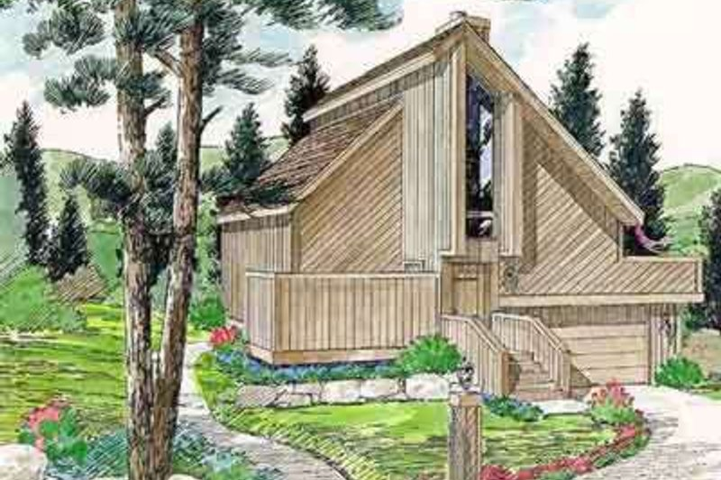 Contemporary Style House Plan - 2 Beds 2 Baths 1004 Sq/Ft Plan #116-121 Exterior - Front Elevation