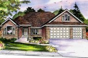 Craftsman Style House Plan - 3 Beds 2 Baths 2103 Sq/Ft Plan #124-699 Exterior - Front Elevation