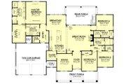 Craftsman Style House Plan - 4 Beds 3.5 Baths 2759 Sq/Ft Plan #430-158 Floor Plan - Main Floor Plan