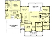 Craftsman Floor Plan - Main Floor Plan Plan #430-158