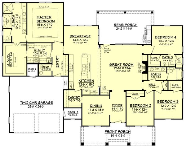Home Plan - Craftsman Floor Plan - Main Floor Plan #430-158