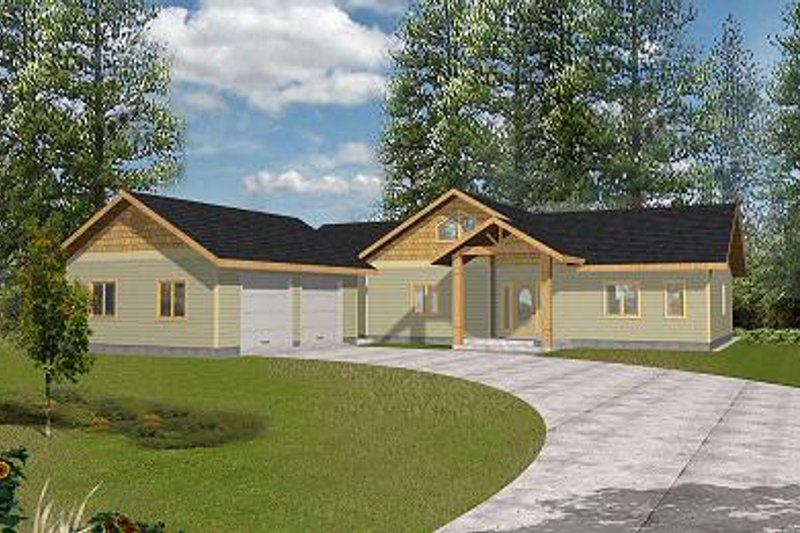 Traditional Exterior - Front Elevation Plan #117-548 - Houseplans.com