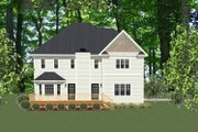 Traditional Style House Plan - 3 Beds 2.5 Baths 2078 Sq/Ft Plan #898-15 Exterior - Rear Elevation